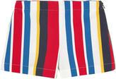 Marni Striped gabardine shorts