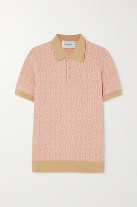 Casablanca Wool-jacquard Polo Shirt - Peach