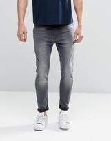 G Star G-Star Type C 3D Skinny Jeans Back Zip Gray Light Aged