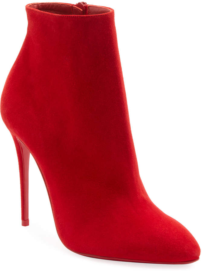 size 40 def69 8f460 Eloise Suede Red Sole Booties