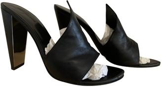 Alexander Wang Black Leather Sandals