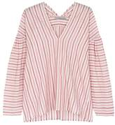 Vince Red Striped Cotton Top