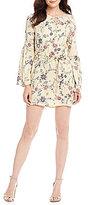 Buffalo David Bitton Florrie Printed Bell Sleeve Shift Dress