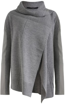 AllSaints Wool-Leather Lucia Cardigan