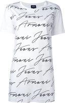 Armani Jeans allover logo print T-shirt - women - Cotton - 38