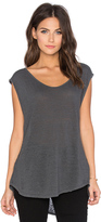 Velvet by Graham & Spencer Cortina Linen Slit Scoop Neck Tank