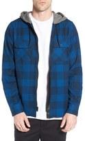 Tavik Men's 'Izumi' Hooded Plaid Flannel Zip Shirt