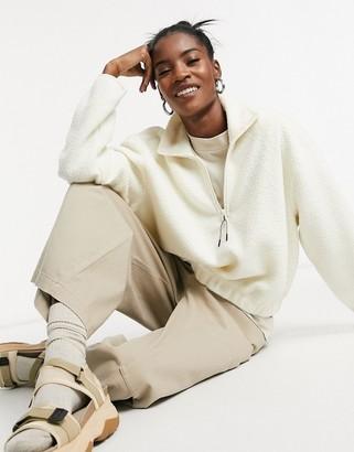 Weekday Maja fleece sweatshirt in beige