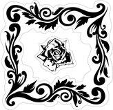 Inka Corp. Inkadinkado Rose Frame Cling Stamp
