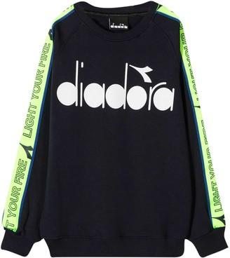 Diadora Blue Sweatshirt Kids