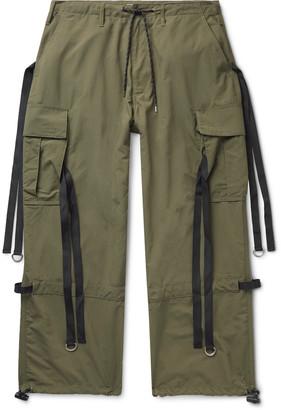 Flagstuff Wide-Leg Webbing-Trimmed Ripstop Cargo Trousers
