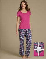Marks and Spencer Pure Cotton Printed Short Sleeve Pyjamas