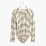 Madewell Song Scoop Bodysuit in Pierre Stripe