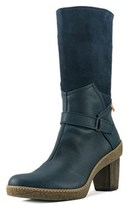 El Naturalista Nf75 Women Round Toe Leather Blue Mid Calf Boot.