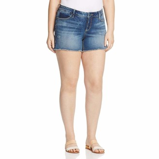 SLINK Jeans Women's Plus Size Side Vent Short