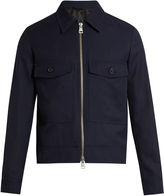 Ami Point-collar zip-through wool jacket