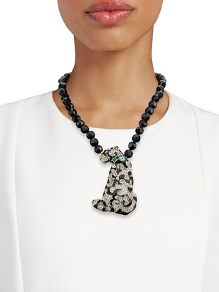 Heidi Daus Crystal Sly Cat Necklace