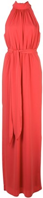 Halston Ruched Design Dress