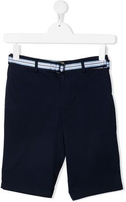 Polo Ralph Lauren Striped-Belt Cotton Shorts
