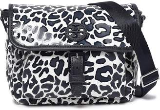 Tory Burch Faux Leather-trimmed Leopard-print Twill Shoulder Bag