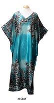 FIONALISSA Women Floral Print Polyester Woven Soft Silky Satin Long Caftan/Dress.