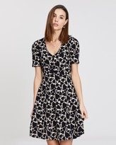 Dorothy Perkins Heart Print Short Sleeve Tea Dress
