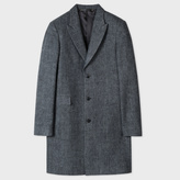 Paul Smith Men's Grey Salt-And-Pepper Wool Peak-Lapel Epsom Coat