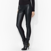 Faux-Leather-Front Legging