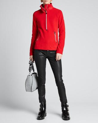 MONCLER GRENOBLE Quarter Zip Fleece Pullover