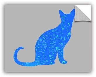 ArtWall Rain Cat Removable Wall Art Mural