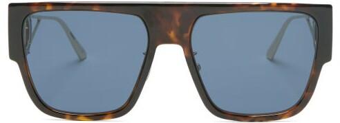 Christian Dior 30montaigne D-frame Acetate And Metal Sunglasses - Tortoiseshell