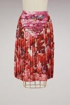 Marco De Vincenzo Printed satin pleated skirt