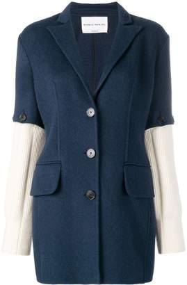 Sonia Rykiel knitted sleeves blazer