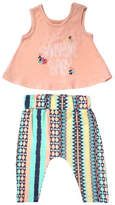 Jessica Simpson Two-Piece Sleeveless Print Top and Pant Set