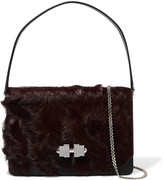 Carven Full Joy medium calf-hair and leather shoulder bag