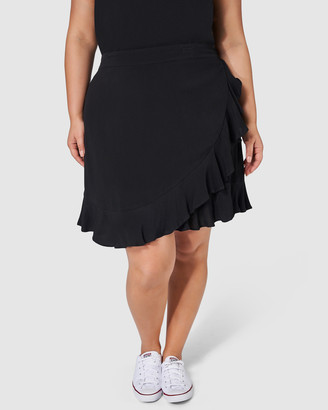 Sunday In The City - Women's Black Mini skirts - Twisted Rap Skirt - Size One Size, 14 at The Iconic
