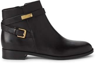 Lauren Ralph Lauren Black Borgia Leather Ankle Boots