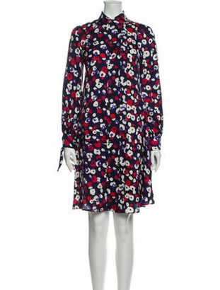 Derek Lam Silk Knee-Length Dress Blue