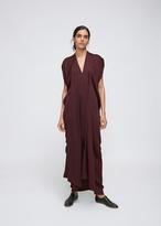 Zero Maria Cornejo Merlot Long Folio Dress