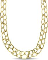 Catherine Malandrino 18K Gold-Plated Silver Interlaced Double Row Choker Necklace