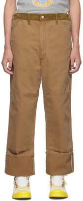 Junya Watanabe Brown Carhartt Edition Customized Canvas Trousers