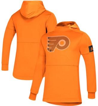 adidas Men's Orange Philadelphia Flyers Game Mode Pullover Hoodie