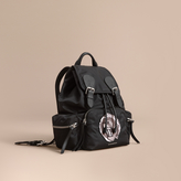Burberry The Medium Rucksack in Technical Nylon with Pallas Heads Appliqué