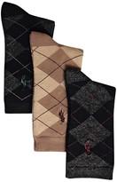 Ralph Lauren Boys' Argyle Socks, 3 Pack - Sizes 4-11