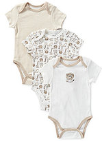 Little Me Newborn-9 Months Safari Bodysuits 3-Pack