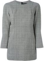 Theory three-quarters sleeved plaid blouse - women - Virgin Wool/Spandex/Elastane/Polyester/Polyurethane - 8