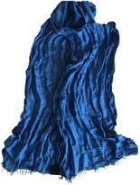 Fendi Blue Linen Scarves & pocket squares