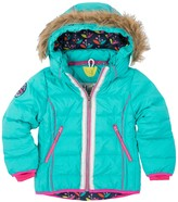 Hatley Nordic Petals Down Filled Faux Fur Trimmed Ski Jacket (Toddler, Little Girls, & Big Girls)