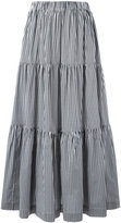 P.A.R.O.S.H. long tiered skirt - women - Cotton/Polyamide/Spandex/Elastane - XS