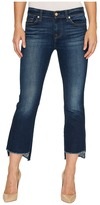 7 For All Mankind Cropped Boot w/ Step Hem in Dark Paradise Women's Jeans